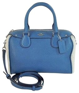 Coach Mini Bennett Satchel in Slate Blue