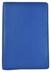 Coach Peb Leather Bi-Fold Passport Wallet Case NWT Denim Blue F93451