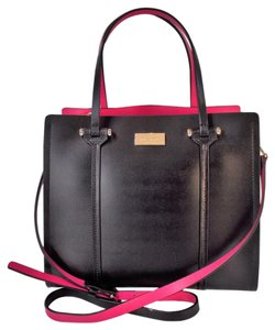 Kate Spade Arbour Hill Elodie Tote in Black Sweetheart Pink