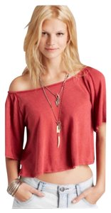 Free People T Shirt Washed Red