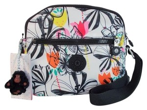 Kipling Keefe Palm Print Nylon Cross Body Bag