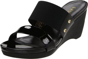 Ralph Lauren Sandals Black Wedges