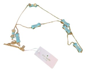 Kate Spade Kate Spade Turquoise and Gold Bow necklace