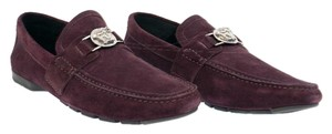 Versace Burgundy New Suede Leather Driver Loafer For Men 42 - 9 Shoes