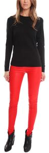Helmut Lang Leather Red Leggings