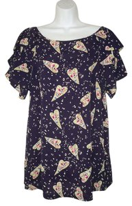 Anthropologie Odille Rayon Hearts Tunic