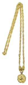 Chanel [Enterprise] Prince of Wales Chain Necklace With Pendant 37CCA606