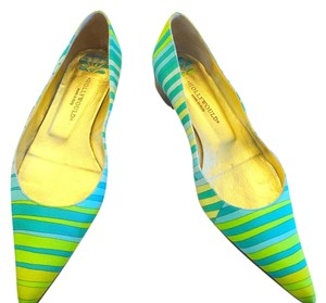 Hollywould Silk blue stripe Flats