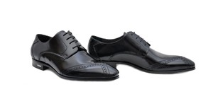 Versace Black New Leather Lace-up Shoes