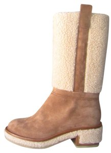 Chanel Brown, beige Boots