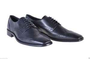 Versace Black New Leather Oxford Shoes