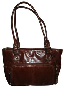 Giani Bernini Leather Organizer Tote Shoulder Bag