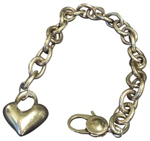 Robert Lee Morris Puff Heart Charm Bracelet