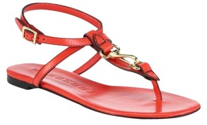 Burberry Reason Leather Thong Horsebit red Sandals