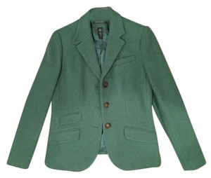 Ralph Lauren Tweed Vented Hem Darts Green Blazer
