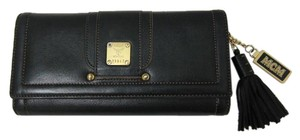 MCM Leather Trifold Wallet With Tassel