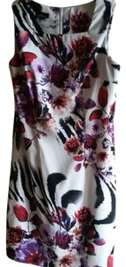 Alyx short dress Floral with black and white Zebra Animal Print Print on Tradesy
