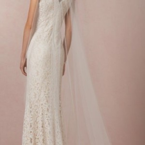 BHLDN Ivory Long Bridal Veil