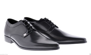 Versace Black New Leather Lace Up Shoes