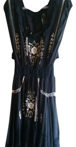 Black Maxi Dress by Free People Embroidered Beaded Lace