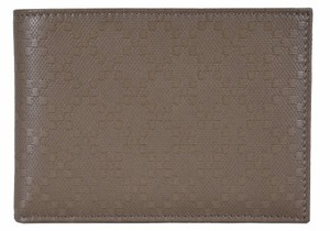Gucci Gucci 278596 Men's Soft Khaki Leather Diamante Bifold Wallet