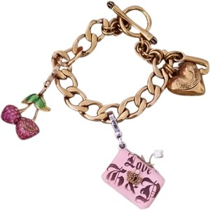 juicy couture juicy couture charm bracelet w/ 2 charms