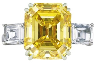 9.2.5 giant gorgeous yellow and white topaz square cocktail ring size 8