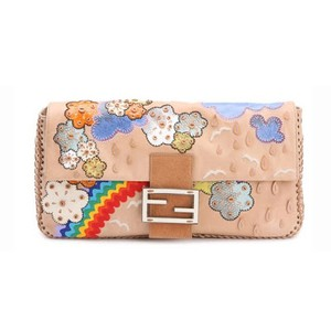 Fendi Clutch Whipstitch Rainbow 2008 Cross Body Bag