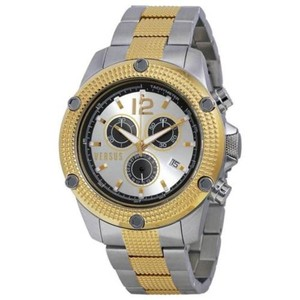 Versus Versace Two Tone Versus By Versace Aventura Chronograph Mens Watch Black