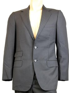 Gucci Wool Striped Jacket Black Blazer
