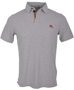 Burberry Men's Polo T Shirt Grey
