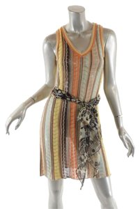 Missoni short dress Orange, Yellow, Multi Knit V Neck on Tradesy