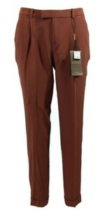 Gucci Silk 335900 Trouser Pants Brown