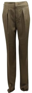 Gucci Silk 336204 Trouser Pants Brown
