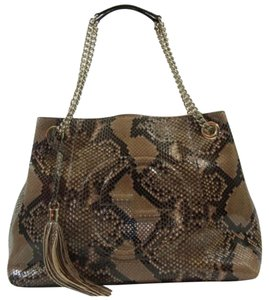 Gucci Python Tote Shoulder Bag