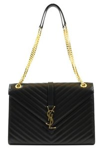 Saint Laurent Ysl 354118 Classic Monogram Matelasse Leather Satchel Shoulder Bag