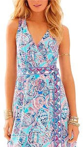 Lilly Pulitzer short dress Pink and blue multicolored on Tradesy