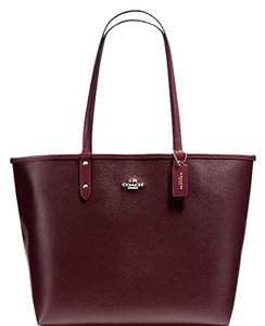 Coach City F36875 Tote in OXBLOOD