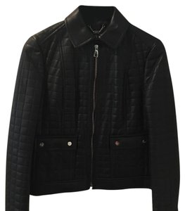 Salvatore Ferragamo Black/Nero Leather Jacket