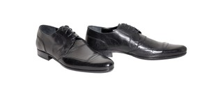 Dolce&Gabbana New Dolce & Gabbana D&g Runway Black Leather Lace Up Shoes