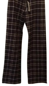 Burberry Boot Cut Pants Brown plaid