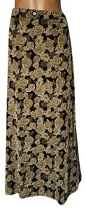 Susan Lawrence Maxi Skirt Tan bronze