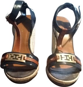 Tommy Hilfiger Blue & Brown Sandals