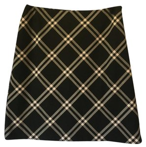 Ann Taylor Mini Skirt Black/white
