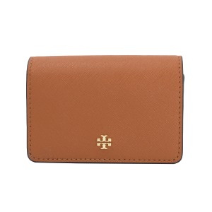 Tory Burch York Foldable Leather Card Case, Luggage