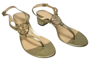 Tory Burch Violet Thongs Low Heel metallic Sandals