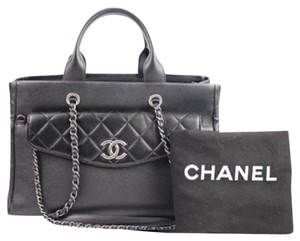 Chanel Satchel Two Way Two-way Quilted Satchel Shoulder Bag