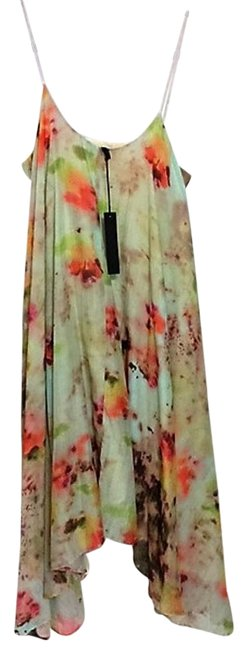 Item - Beech Print **nwt** Coquille Silk Cotton Mid-length Short Casual Dress Size 4 (S)