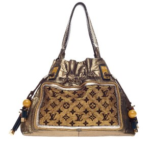 Louis Vuitton Canvas Satchel in Golden