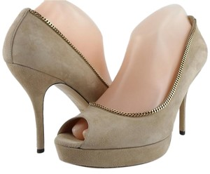 Gucci Beige/ Tabaco Pumps